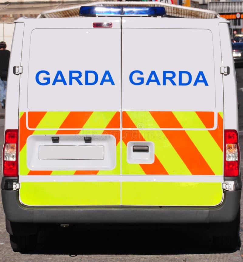 Furgoneta de policía irlandesa fotos de archivo