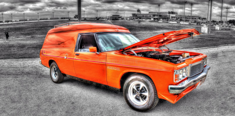furgoneta del panel de Holden del australiano de los años 70 imagen de archivo libre de regalías
