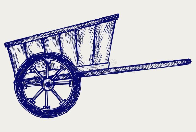 Furgoneta del vintage a transportar libre illustration