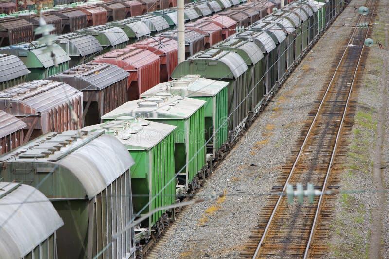 Furgonetas ferroviarias foto de archivo
