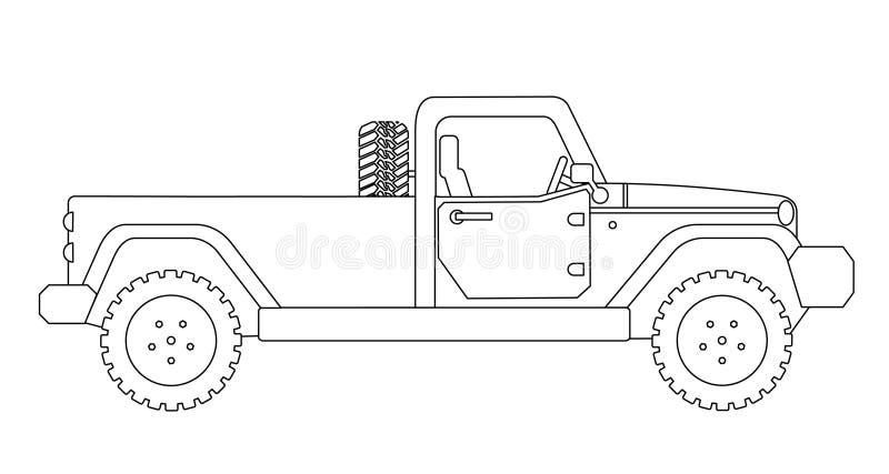 Furgonetka klasyczny ciężarówka odosobniony ilustracji