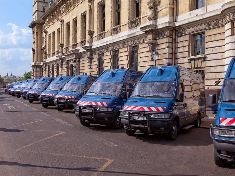 Furgoni di polizia fotografia stock