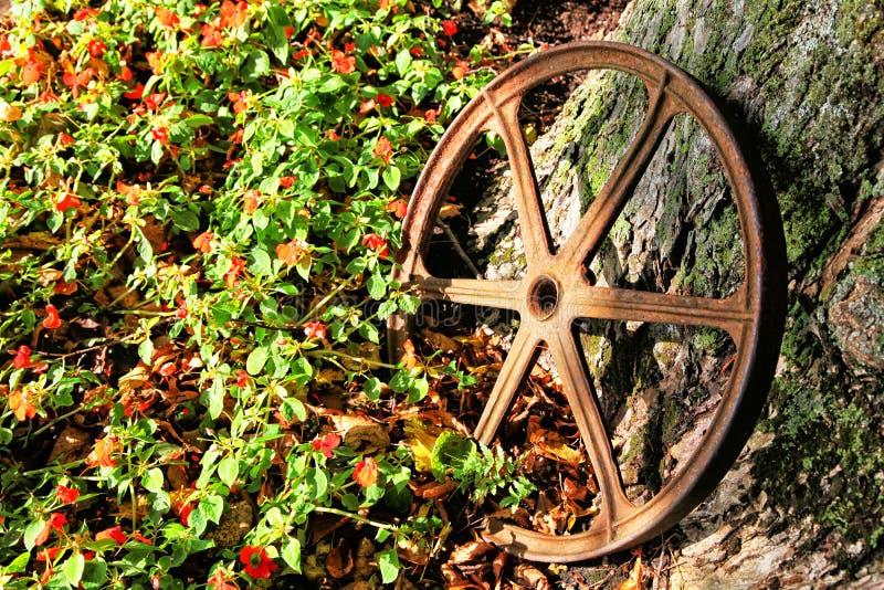 furgonu żelazny koło obraz royalty free