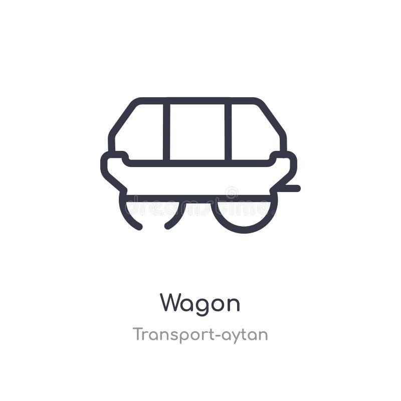 furgonu konturu ikona odosobniona kreskowa wektorowa ilustracja od transport kolekcji editable cienieje uderzenie furgonu ikonę n ilustracji