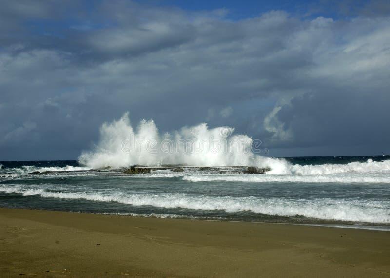 Furia del mar fotografía de archivo