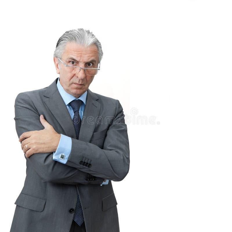 Furious boss. stock photos
