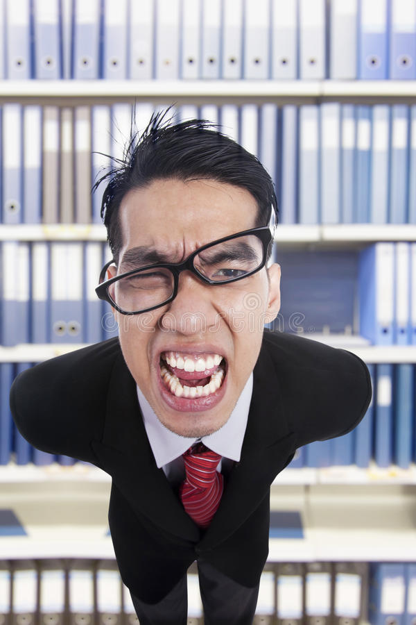 Download The furious boss stock image. Image of anger, background - 25394929