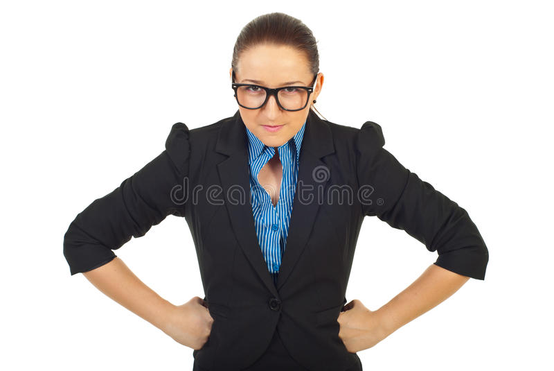 Furious business woman royalty free stock photo
