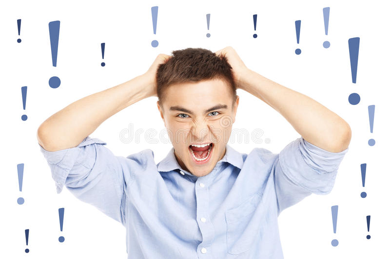 Download Furious businessman stock image. Image of frustrated - 39504227