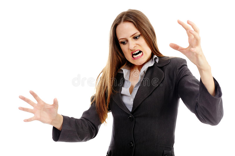 Download Furious Businesswoman Threatening Stock Photo - Image: 37274704