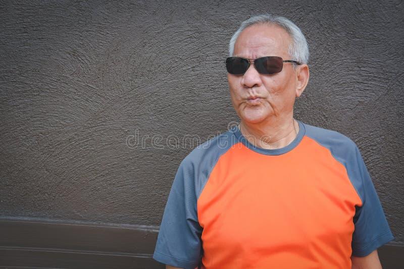 Furious elder man, enraged elderly male. angry senior. Negative expression royalty free stock images