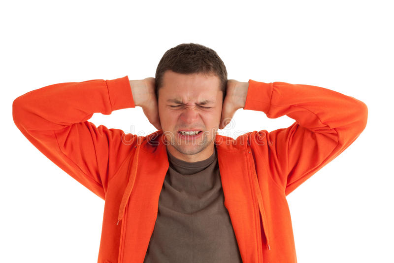 Download Furious Man With Hands On Head Stock Photo - Image of despair, head: 15643624