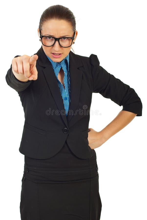 Furious Manager Woman Accuse You Stock Photos