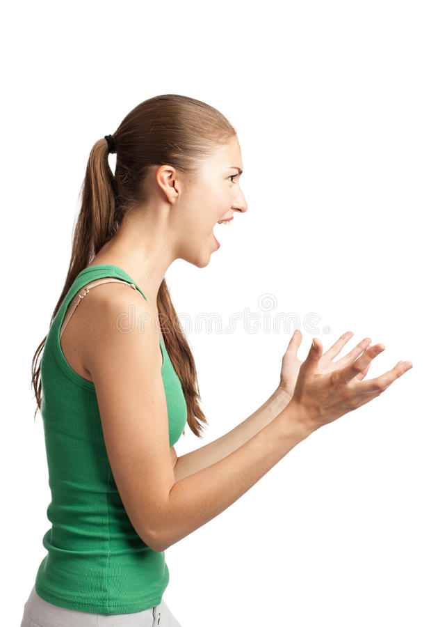 Furious Woman Screaming Stock Images