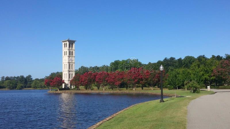 Furman Universitaire Klokketoren, Sc van Greenville royalty-vrije stock afbeelding