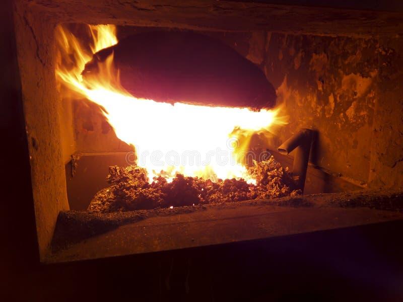 Furnac do carvão industrial fotografia de stock