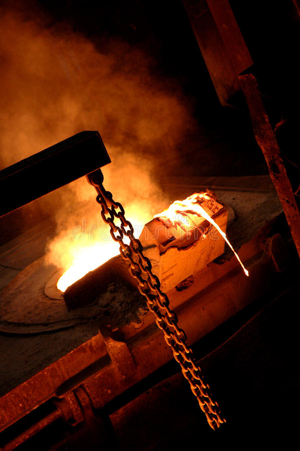 Furnace in Metallurgical Plant royalty free stock images