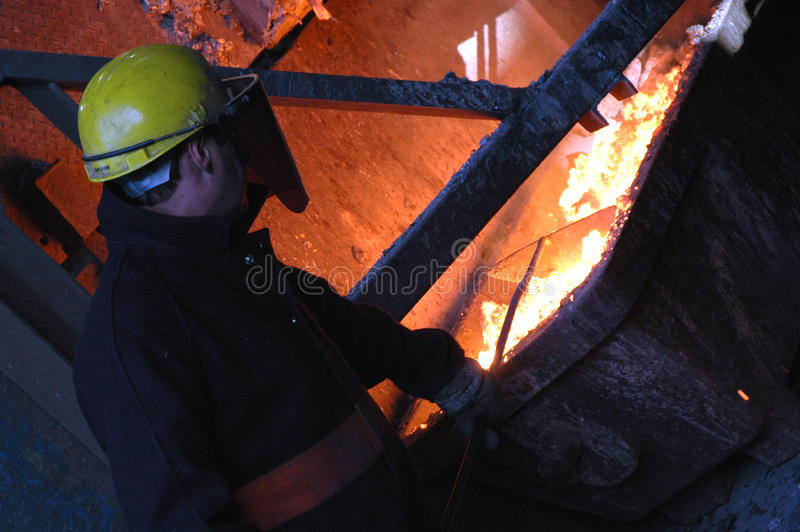 Furnace in Metallurgical Plant stock image