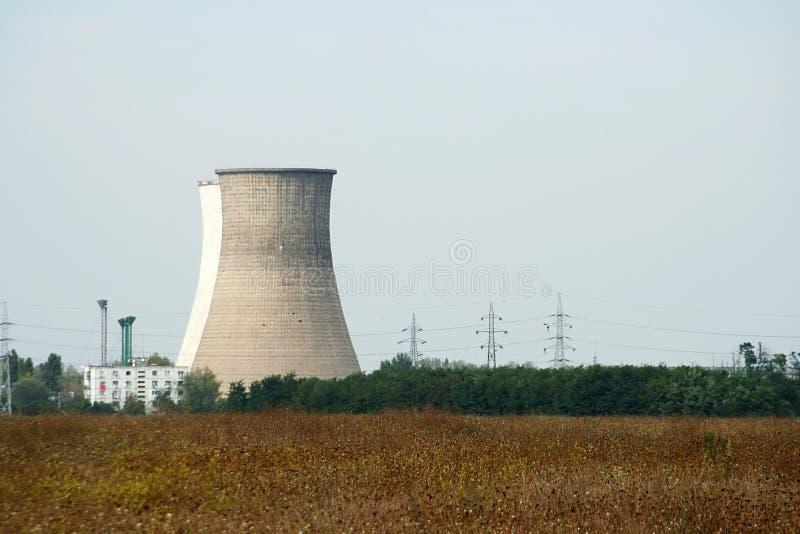Furnances de la central eléctrica imagen de archivo