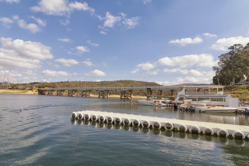 Furnas水坝在米纳斯吉拉斯州,巴西 免版税库存图片