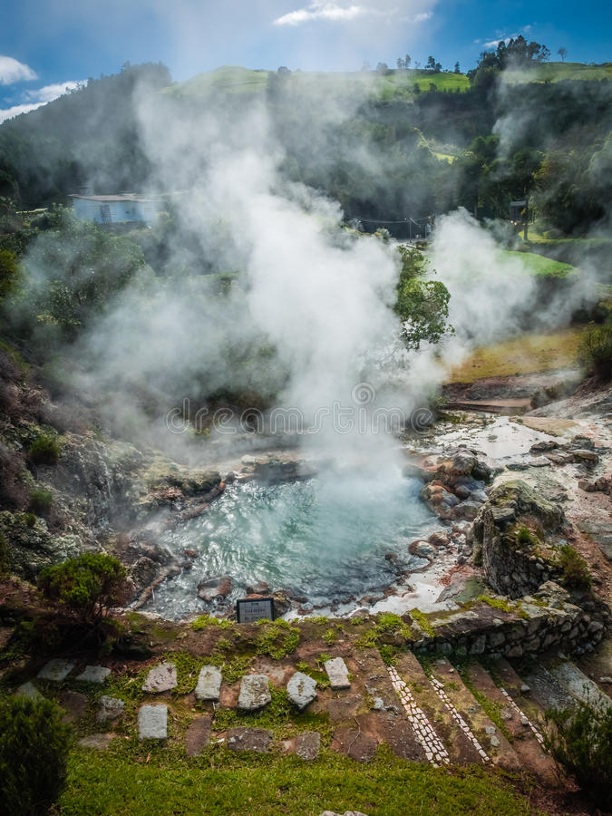 Furnas fumaroles royaltyfri foto