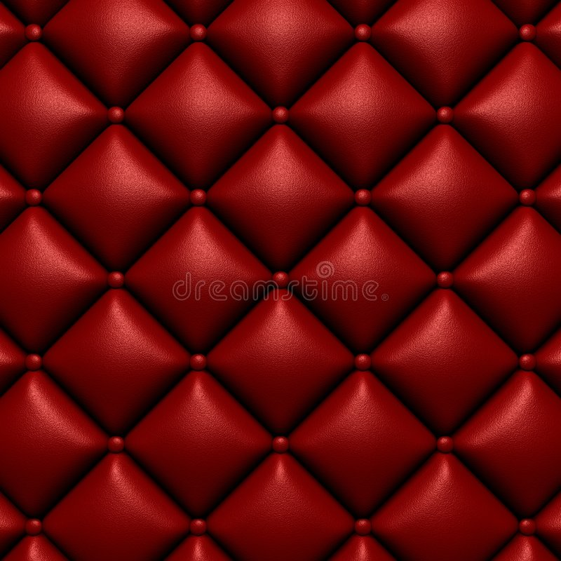 Furnishing leather texture. Red background vector illustration
