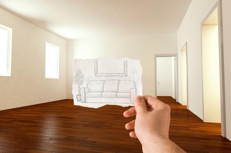 Download Furnishings idea stock image. Image of paper, room, architecture - 19442475