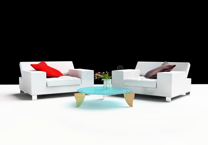 Furniture. Modern furniture on a white background 3d image vector illustration