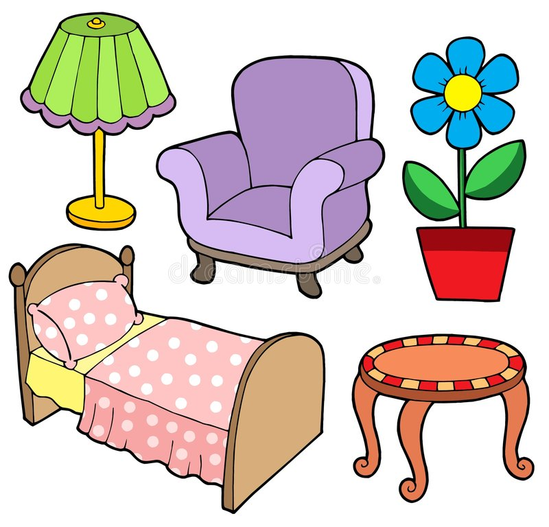 Furniture collection 1 vector illustration