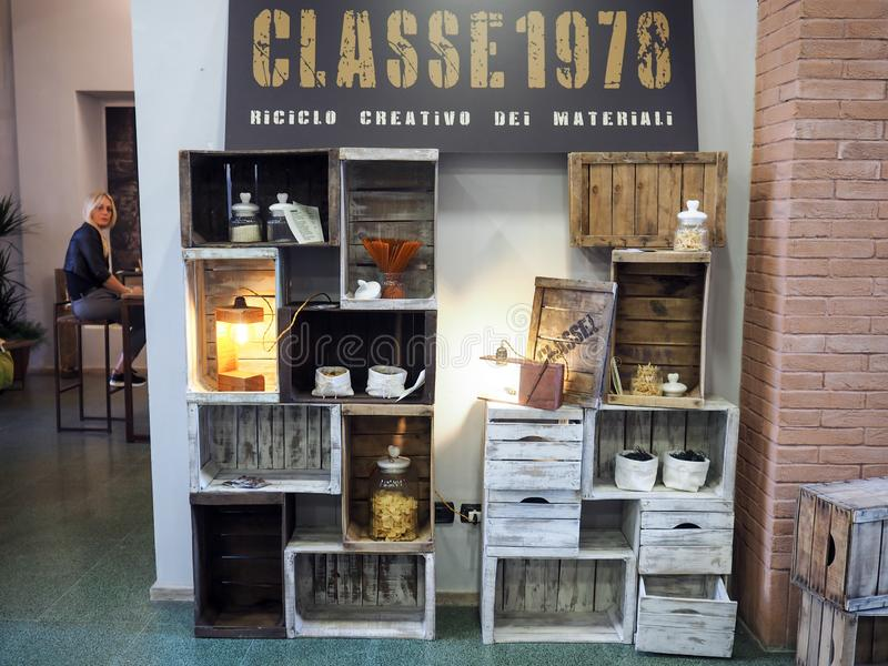 Furniture and design exhibition in Foligno, central Italy royalty free stock images