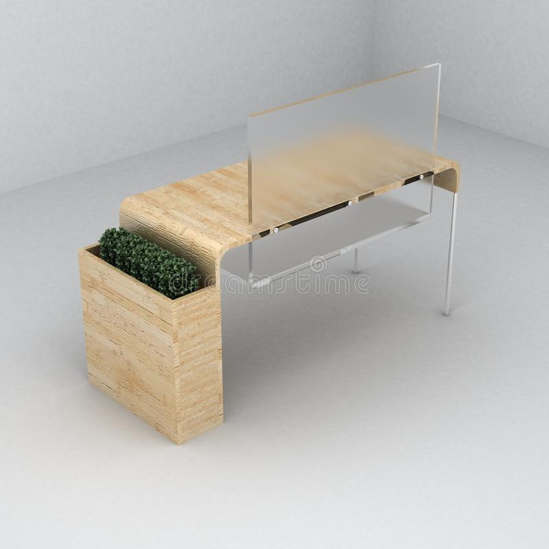 Furniture desk royalty free stock photo