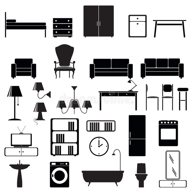 Download Furniture End Lighting Icons Set Stock Images - Image: 16772204