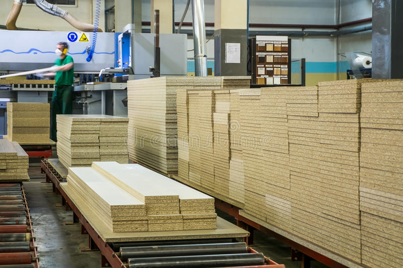 Furniture factory production line royalty free stock photos