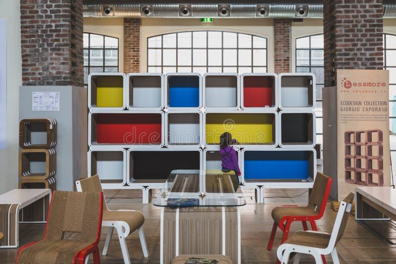 Furniture at Fuorisalone during Milan Design Week 2015 stock images