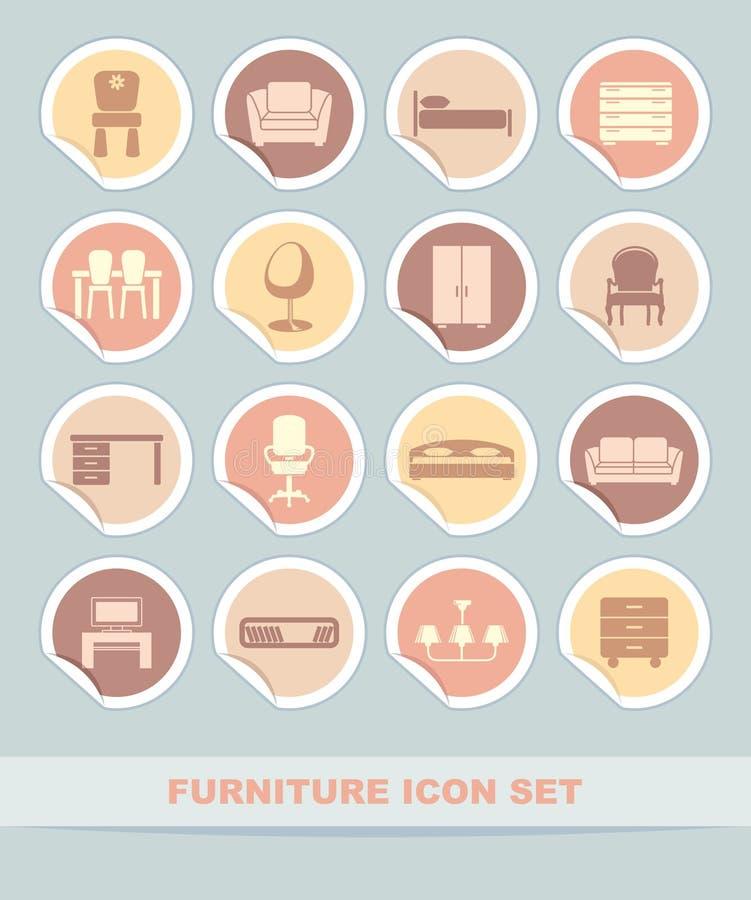 Download Furniture Icon Set Stock Image - Image: 24978071