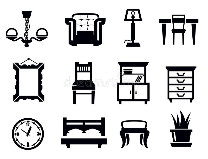 Download Furniture icon set stock vector. Illustration of furniture - 30837513