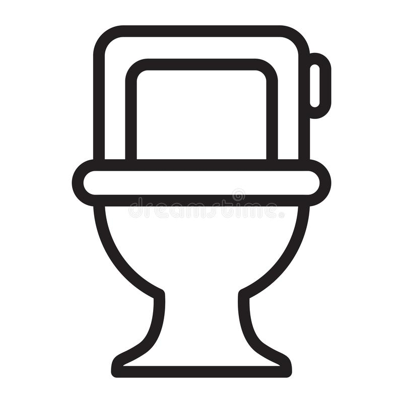 Toilet. Furniture icon suitable with your content