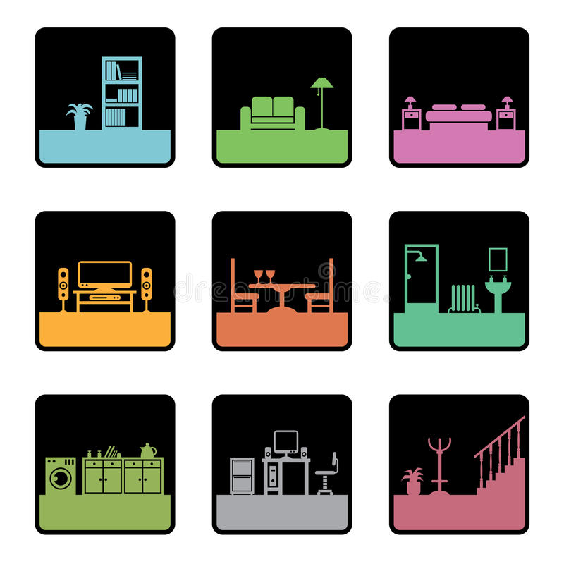 Free Furniture Icons Royalty Free Stock Photography - 9508837