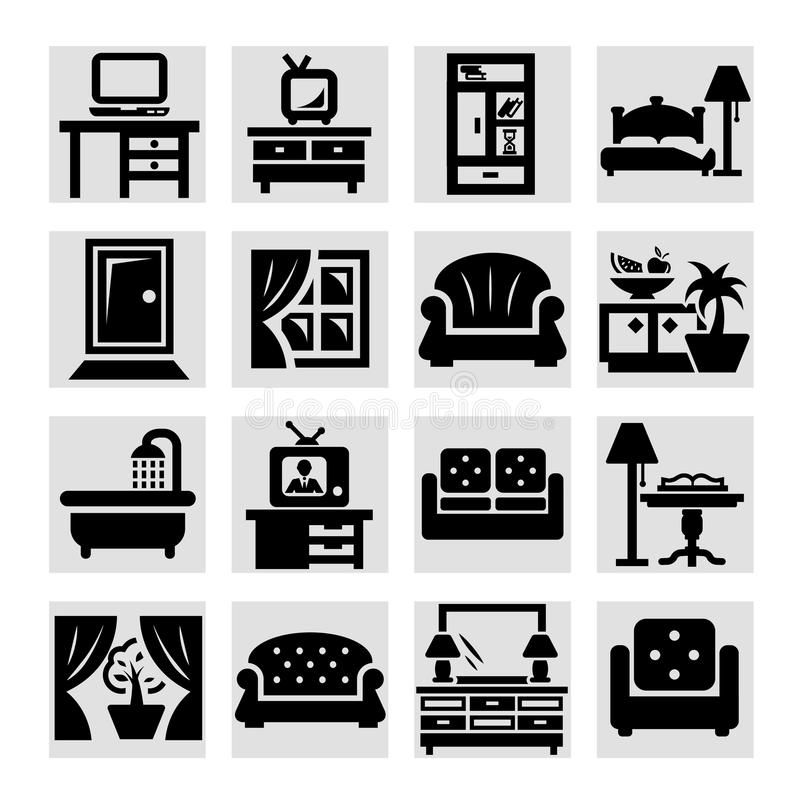 Furniture  Icons Stock Photo