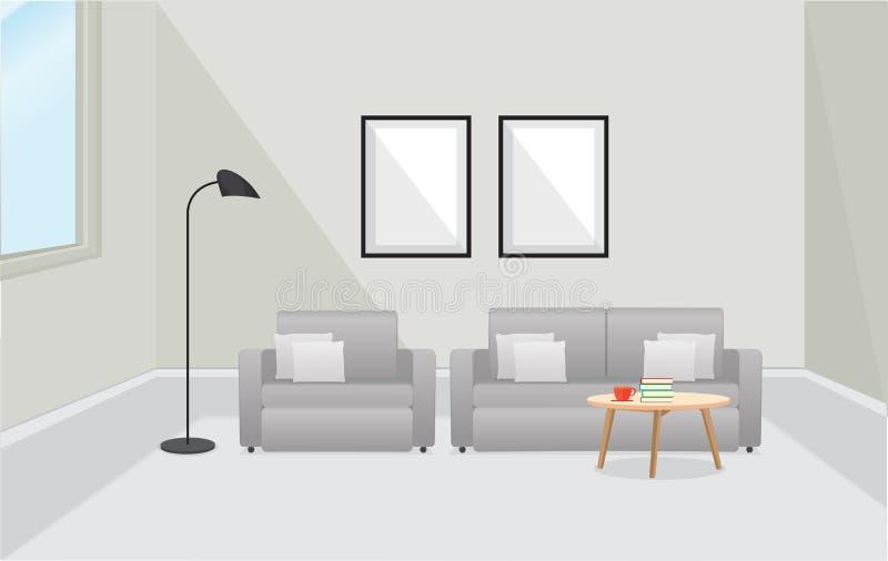 Furniture Interior. Living room with sofa. Vector illustration vector illustration