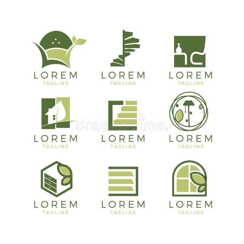 Furniture Logo Set vector illustration