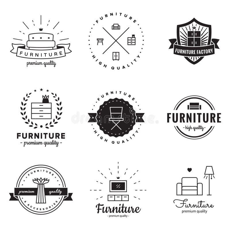 vintage furniture logo. Download Furniture Logo Vintage Vector Set. Hipster And Retro Style. Perfect For Your Design N