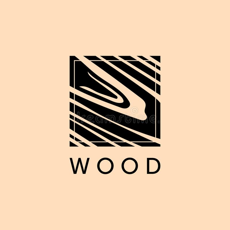Furniture logo Wood floor Natural Pattern wood stock illustration