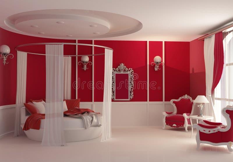 Furniture in luxury bedroom stock illustration