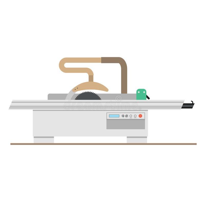 Furniture manufacture Flat Set vector illustration