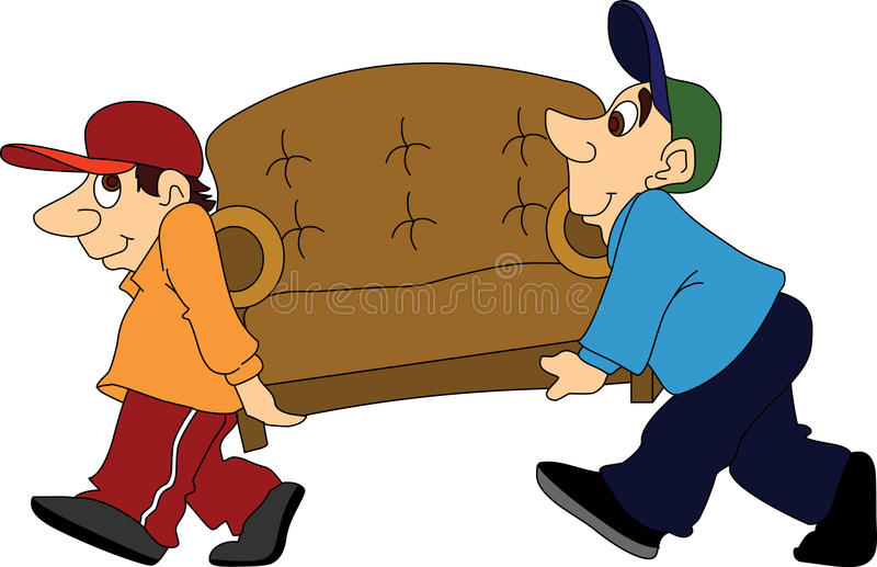 Furniture Movers royalty free illustration
