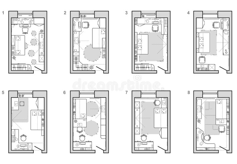 furniture plan of childs room floor plan symbol as architecture