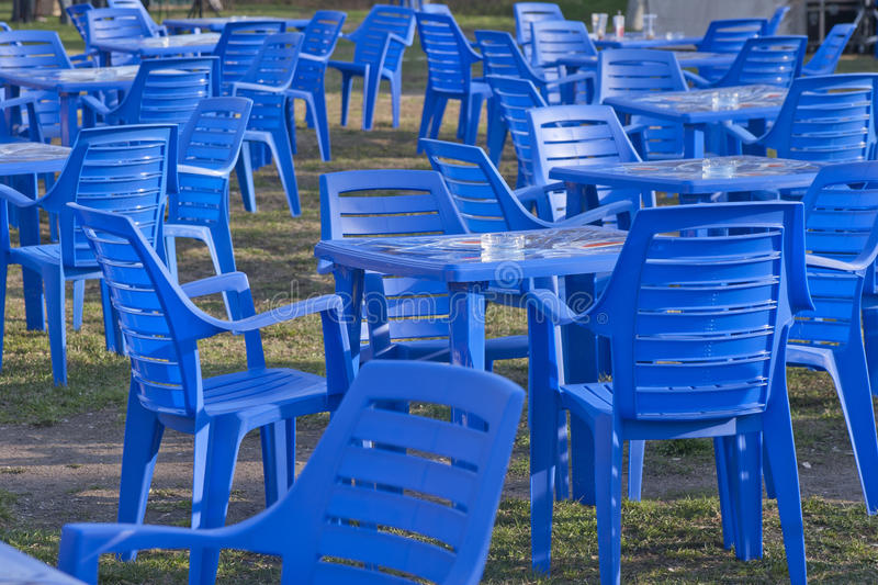 Download Furniture, Plastic Chairs And Tables Stock Photo - Image of food, plastic: 17803210