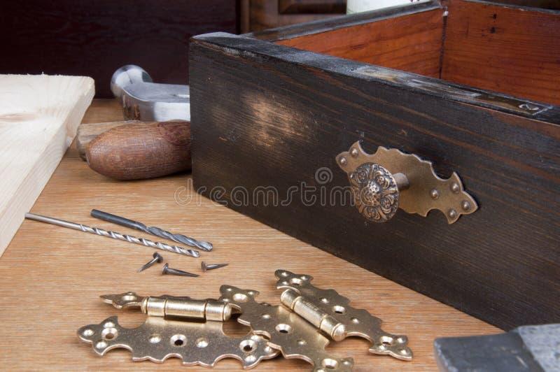 Furniture renovation stock photos