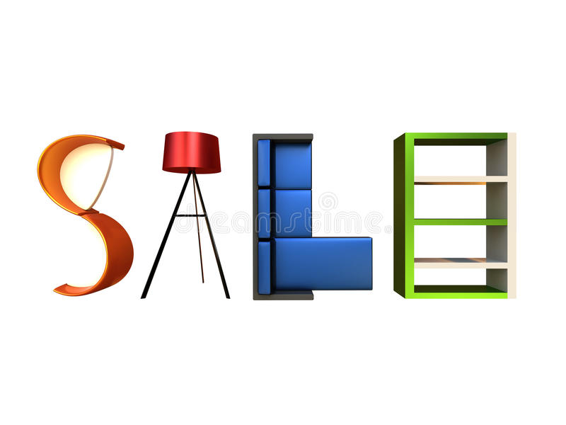 Furniture Sale royalty free stock photography